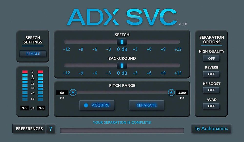Audionamix: AAX Audio Source Separation Magic for Pro Tools